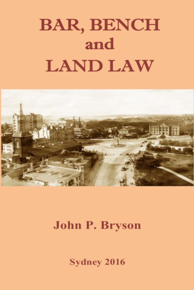 Cover - Bar, Bench and Land Law